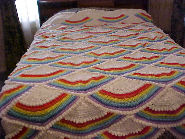 Rainbow Afghan Pattern Craftingrannys Craft Sewing Room